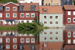 Bunte Skandinavischen Häuser