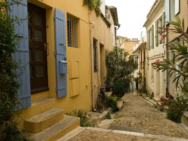 Strasse in Spanisches Dorf